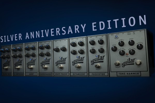 Aguilar Amplification Unveils Limited Edition Silver Anniversary Pedals