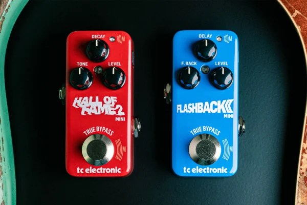 TC Electronic Announces Flashback 2 Mini Delay and Hall of Fame 2 Mini Reverb Pedals