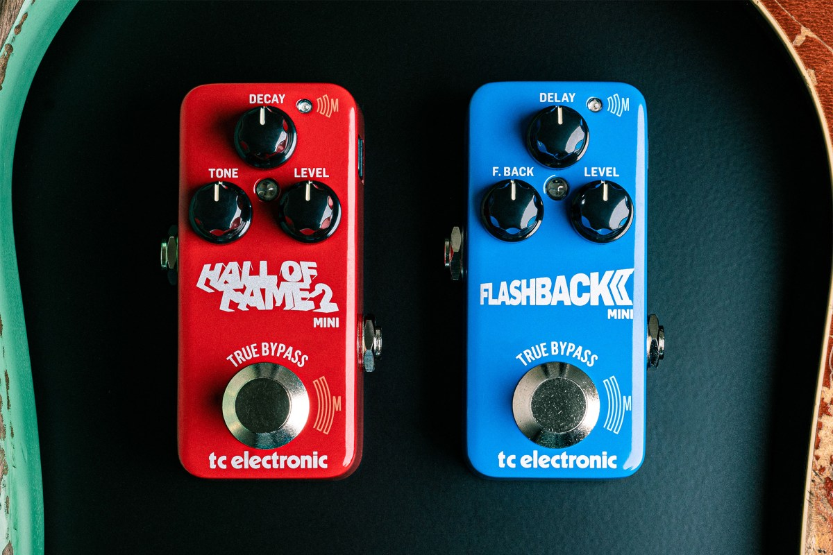 TC Electronic Flashback 2 Mini Delay and Hall of Fame 2 Mini Reverb Pedals
