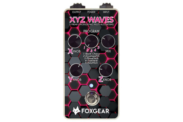 Foxgear Introduces the XYZ Waves Modulation Pedal