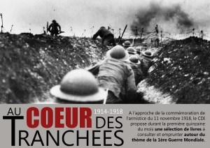 La Grande Guerre, thème de lecture du mois de novembre