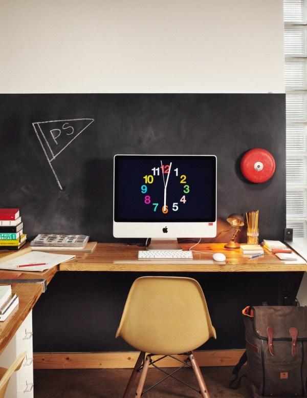 Office Chalkboard Wall Idea