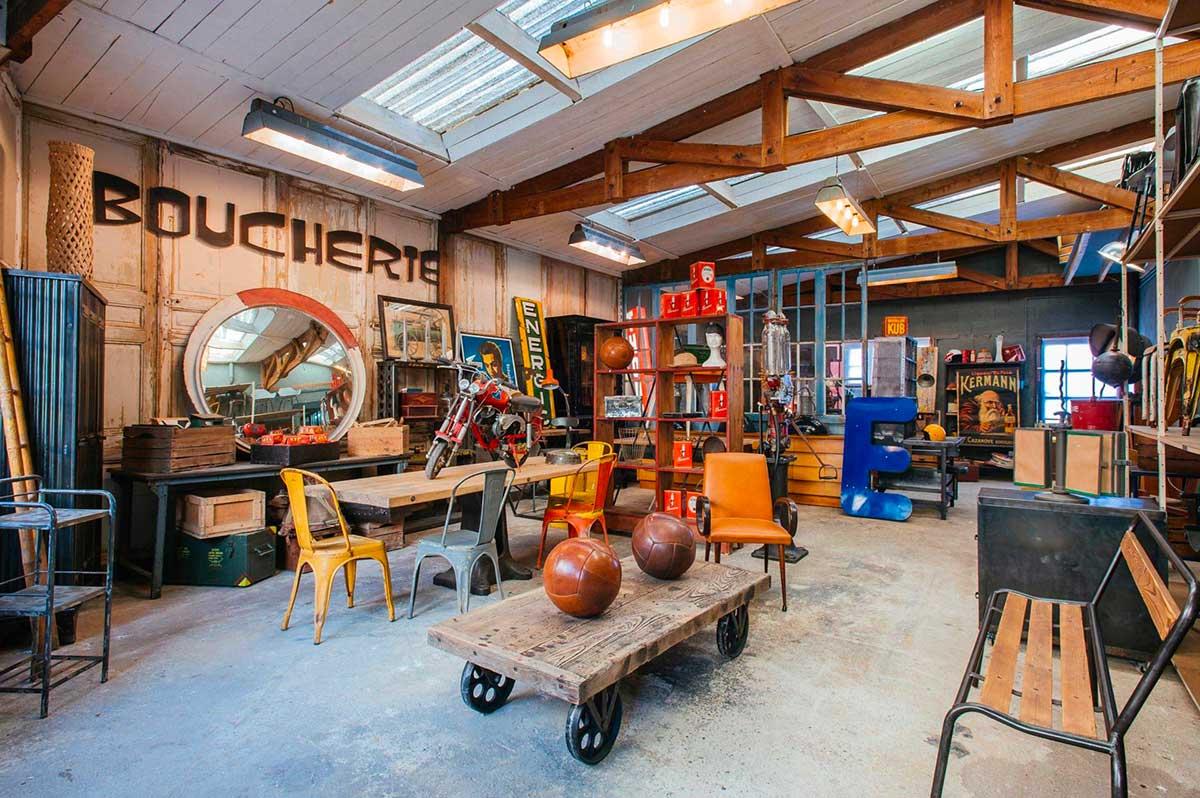 11 boutiques de mobilier industriel