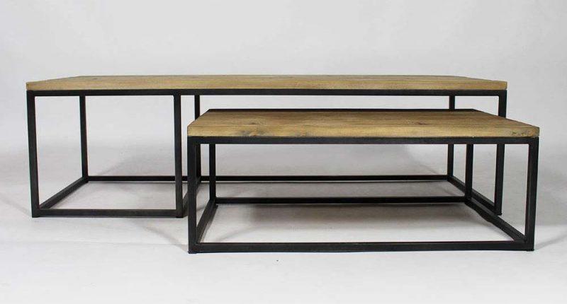 Idees De Table Basse Deco Pour Votre Salon Table Basse Industrielle Gigogne