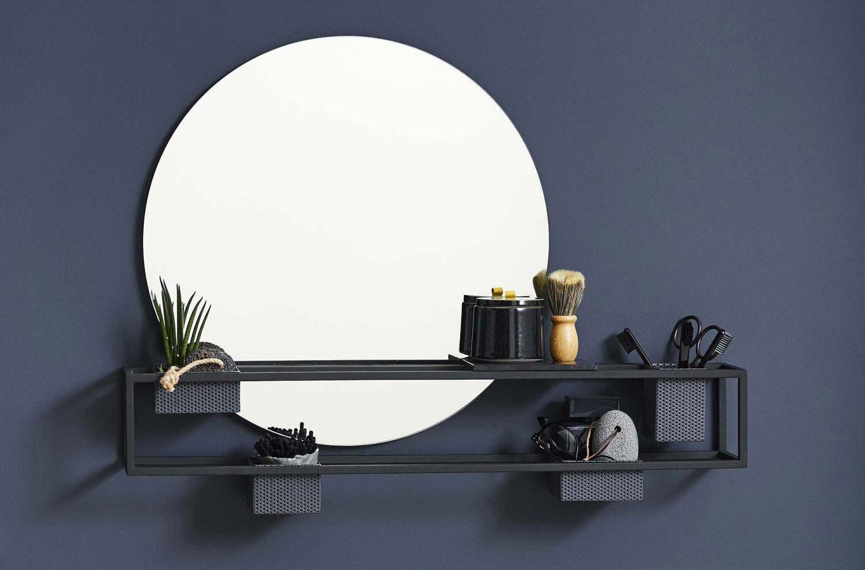 22 Idees Deco De Miroir Avec Rangement Ou Etagere