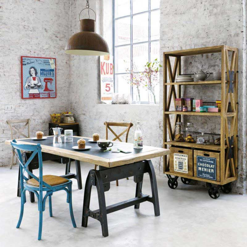 table industrielle 17 idees deco en