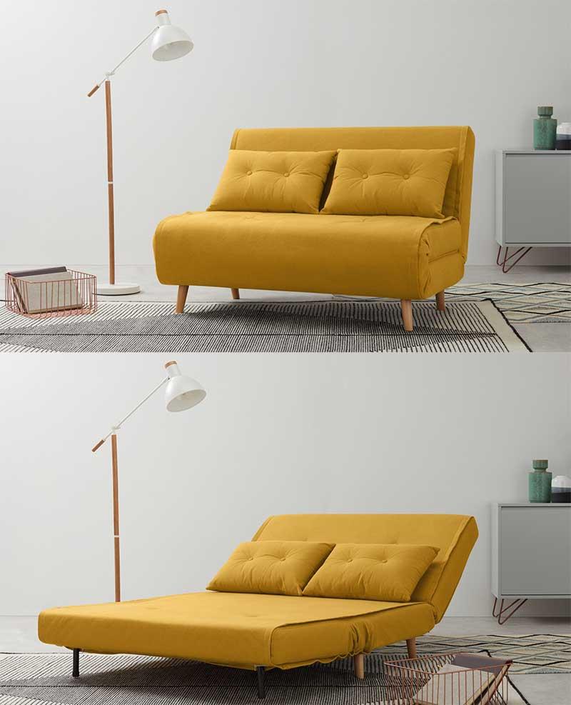 canape jaune 25 idees deco pour le salon