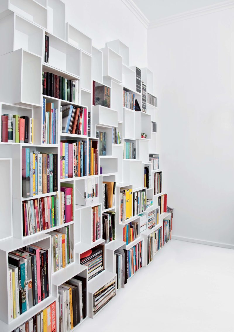bibliotheque blanche 19 etageres au
