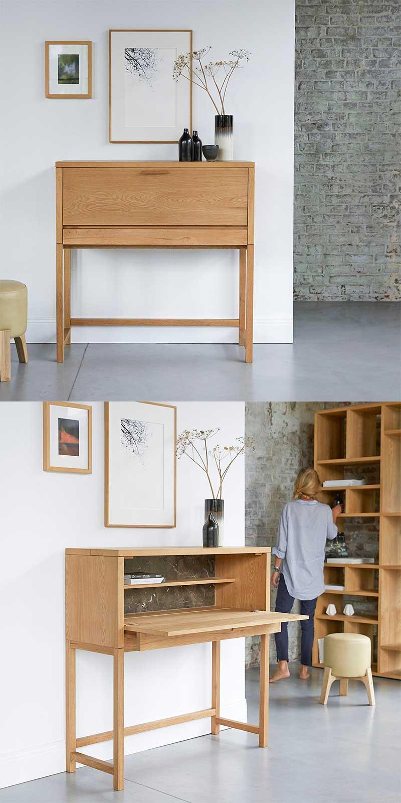 Petit Bureau 20 Meubles Gain De Place Pour Petits Espaces
