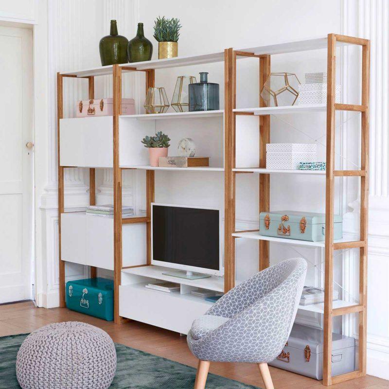 meuble tv bibliotheque 18 idees deco