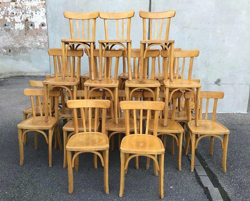 chaise bistrot 18 assises esprit vintage