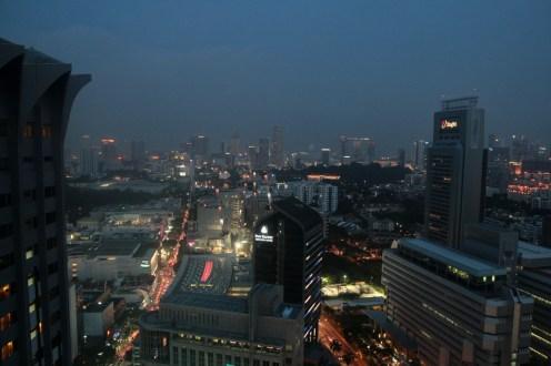 Singapour à la tombée du jour