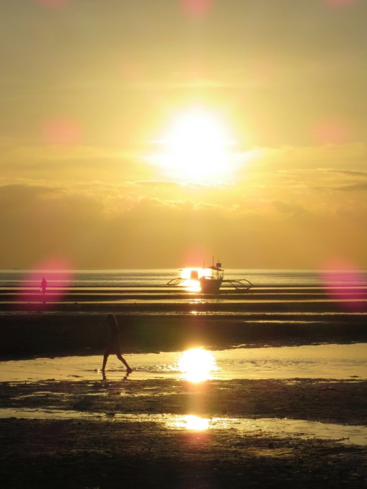 Coucher de soleil à Donsol