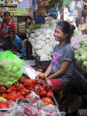 Vendeuse de légumes