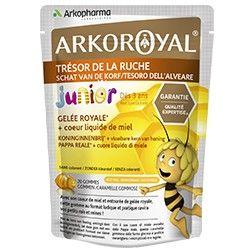 arkoroyal tresor de la ruche sachet de 20 gommes gout miel pour enfants des 3 ans