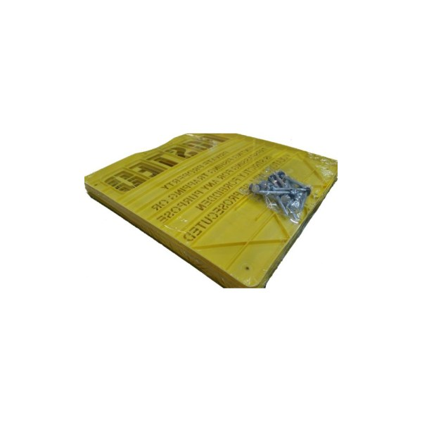 Yellow Extra Durable Polymer Posted Sign Flat Packed