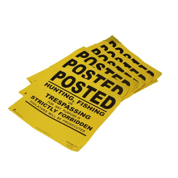 Yellow Heavy Gauge Flexible Vinyl Posted Sign flatpacked