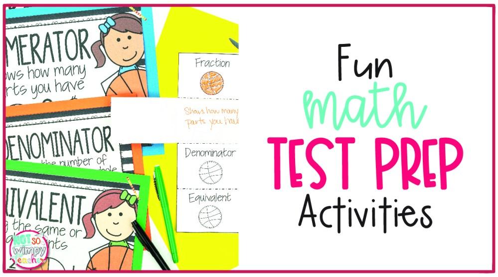 medium resolution of Fun Math Test Prep Activities - Not So Wimpy Teacher