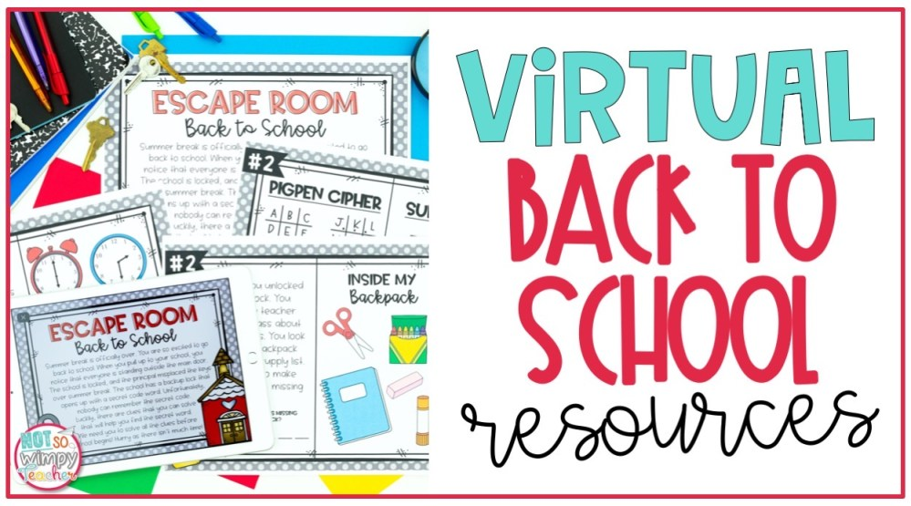 medium resolution of Virtual Back to School Resources - Not So Wimpy Teacher