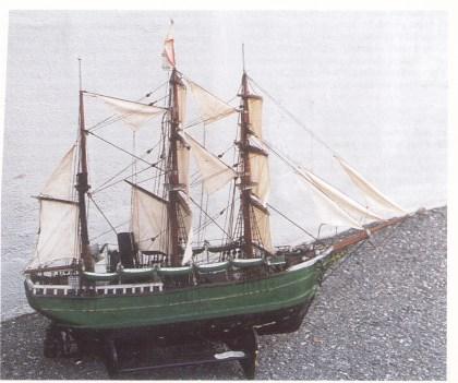 Modell av «Morgenen» søsterskip til Svend Foyns «Haabet» (Fylkesmuseet)