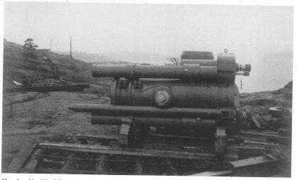 Hvorfor skjøt ikke Mågerø i 1940? Denne 30,5 cm haubitzen, fotografert da den ankom i 1923, ble aldri avfyrt mot inntrengerne.