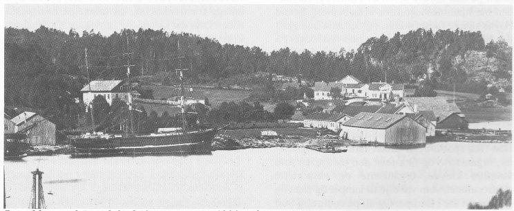 Revodden med Ramdal i bakgrunnen ca. 1890. På Ramdal bodde Svend Foyn fra 1877 til sin død i 1894. Foto: Vesffoldminne 1995.
