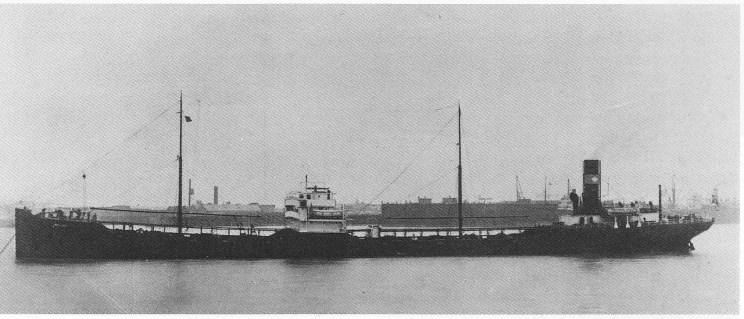 Bergs første skip «Meline», bygget i 1918 ble inntjent allerede på første turen.