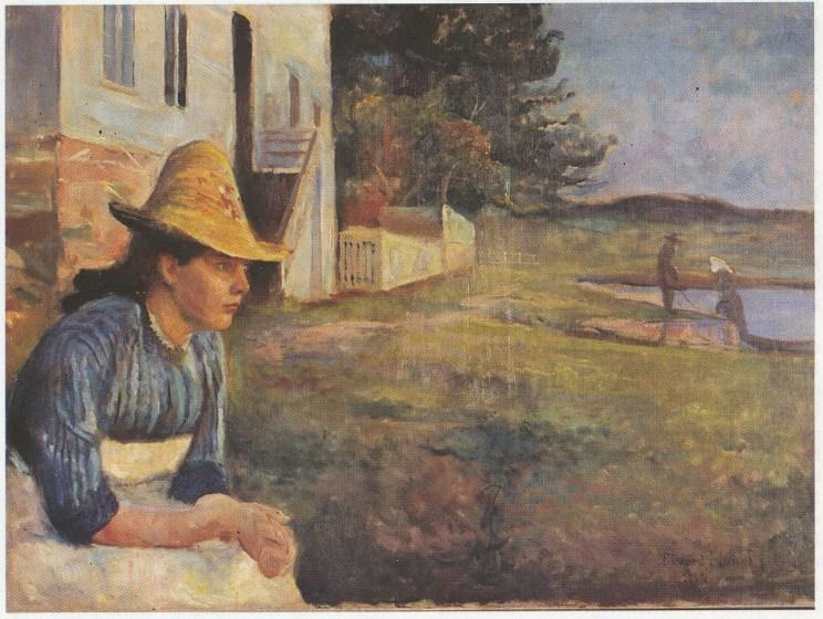 «Aften», Edvard Munchs maleri fra Vrengen 1888. Tilhører Thyssen-Bornemisza Collection, Madrid.