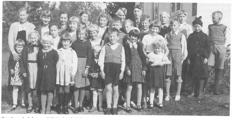 Søndagsskolebarn på Veierland 1934.