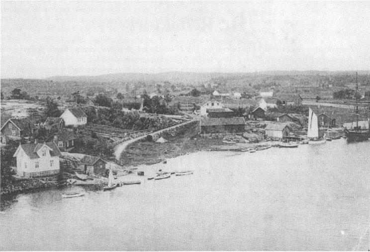 Eidsvingen, Nesbrygga 1922.