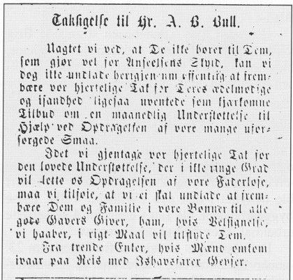 Faksimile Av Tunsbergeren 17. mai 1871.