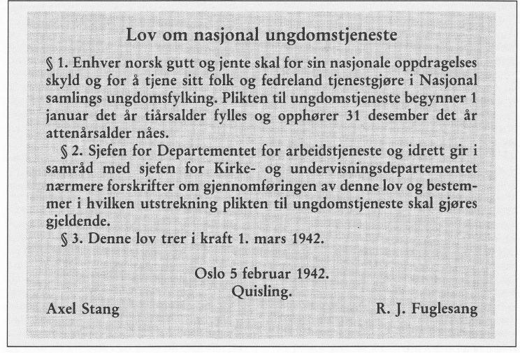 Fra Aschehoug, Norge i krig.