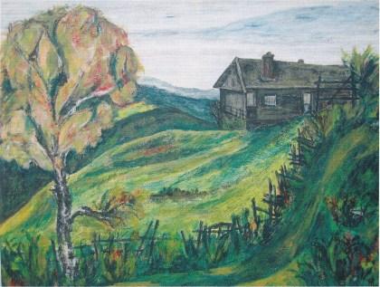 Maleri malt av Richard Lødner: Bildet eies av Lødners niese, Inger Wåge. (Foto: Svein Hermansen)