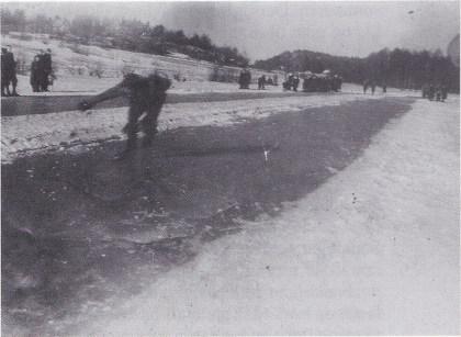 Skøyteløp på Strengsdalsvannet i 1948.