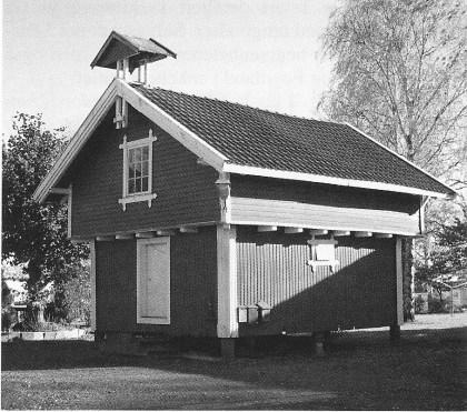 Stabburet på Bjørnebu slik det står der i dag. (Foto Svein Hermansen)