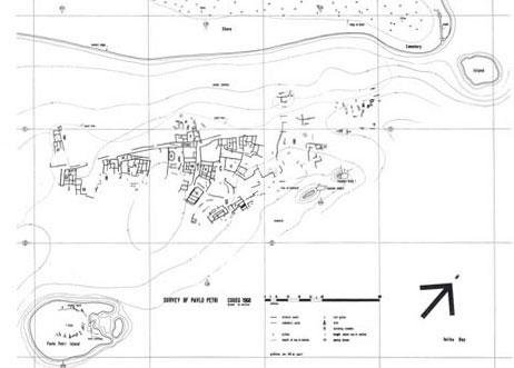Plan of the Pavlopetri site in 1968