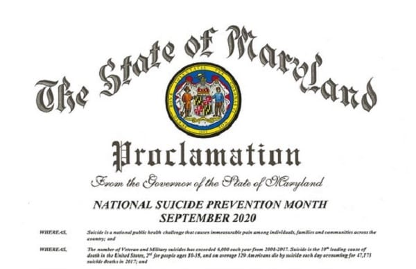 Governor Hogan issues proclamation recognizing September