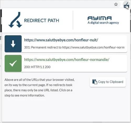 La extensión Chrome RedirectPath