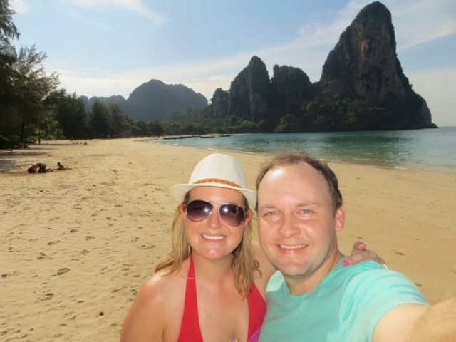 Help us take more smiling pics like this! Railay Beach, Thailand