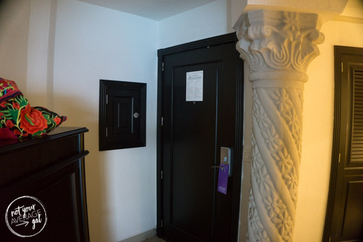 The magic box to the left of the door a The Hyatt Zilara Cancun.