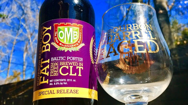 Fat Boy Bourbon Barrel Aged Porter & Glass