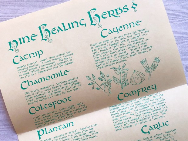 nine healing herbs