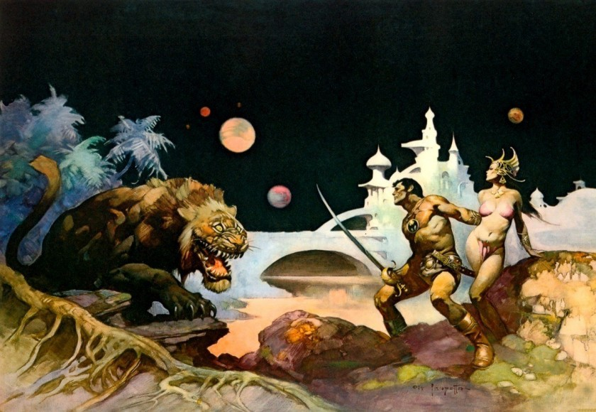 Image result for john carter frank frazetta