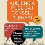 Doble sessió de consell plenari a Nou Barris