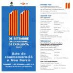 Nou Barris celebra la Diada l'endemà de 11 de setembre