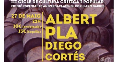 Albert Pla i Diego Cortés a l'Ateneu Popular de 9 Barris