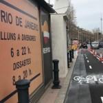 Queixes de comerciants i veïns pel nou carril bici de l'avinguda de Rio de Janeiro