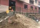 Ensurt per unes esquerdes al carrer de la Florida per les obres de reurbanització