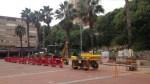Obres a l'enllumenat de la plaça Roja