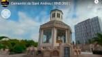 El cementiri de Sant Andreu, en realitat virtual
